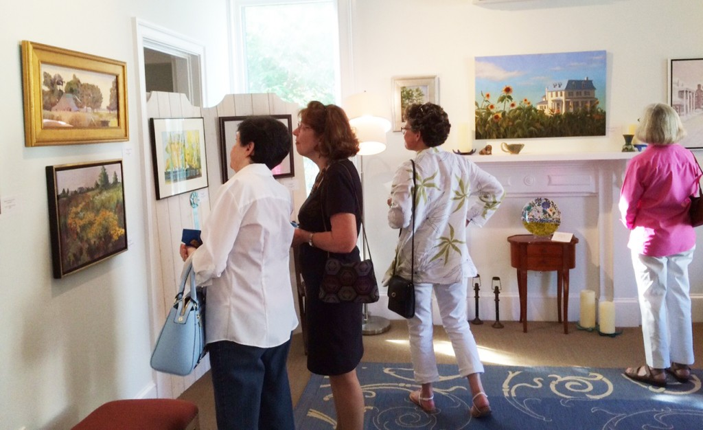 Gravely Art Patrons at SMAL exhibit