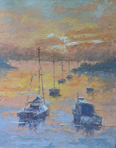 Sunset Anchorage by George Hamilton